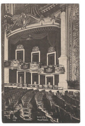 New York City Postcard:  The Strand Theater Interior Advertising