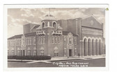 Mexia, Texas Real Photo Postcard:  City Hall & Auditorium