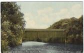 Blackstone, Massachusetts Postcard:  Covered Bridge
