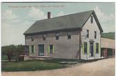 Richmond Corner, Maine Postcard:  Post Office and Grange Hall