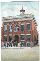 "Lockport, New York Postcard:  ""New"" Police Headquarters"