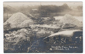 Hinsdale, New Hampshire Real Photo Postcard:  1907 View at the Dam Construction Site
