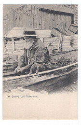 Swampscott, Massachusetts Postcard:  The Swampscott Fisherman