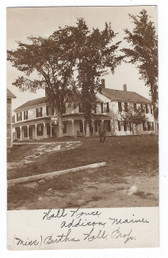 Addison, Maine Real Photo Postcard:  Hall House