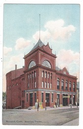 Norwich, Connecticut Postcard:  Broadway Theatre