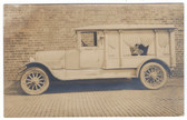 Belle Valley, Ohio Real Photo Postcard:  Hearse