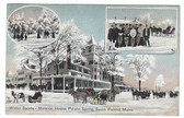 South Poland, Maine Postcard:  Winter Sports at Mansion House, Poland Spring