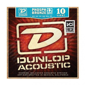 BOX OF 12 - Dunlop - Acoustic Guitar Strings (12 string pack)  - 10/47