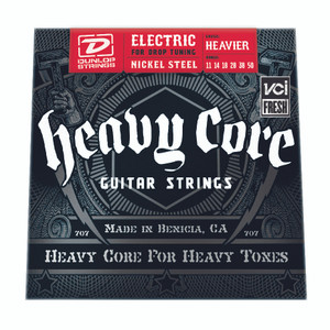BOX OF 6  - DUNLOP – Electric Heavy Core Guitar Strings – 11-50
