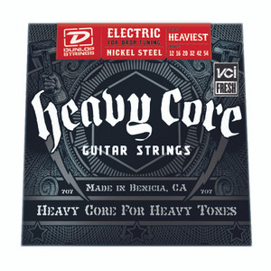 BOX OF 6  - DUNLOP – Electric Heavy Core Guitar Strings – 12-54