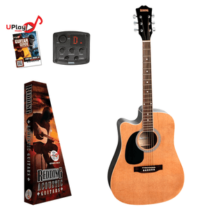 REDDING - Dreadnought electric/acoustic. Left hand Guitar