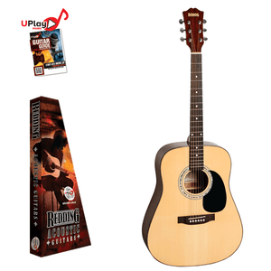 REDDING - Left Handed Dreadnought acoustic Guitar - Natural