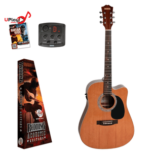 REDDING - Left Hand Dreadnought electric/acoustic with Venetian cutaway Cedar top Guitar