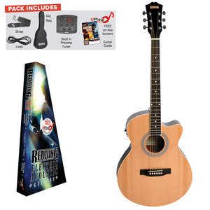 REDDING - Electric/Acoustic Package. Grand Concert Guitar- Natural
