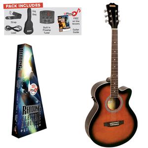 REDDING - Electric/Acoustic Package. Grand Concert Guitar- Tobacco Sunburst