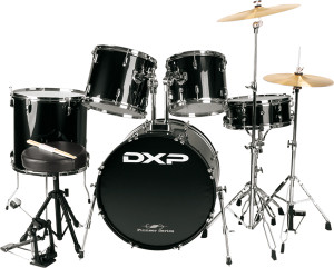 """22"""" Rock Drum Kit Package with Zildjian Cymbals & Throne"""