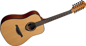 """LAG - Tramontane Stage """"66"""" Series 12-String Dreadnought Acoustic  Guitar"""