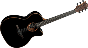 "LAG - Tramontane ""100"" Series T100ASCEBLK Slim Line Acoustic Electric guitar"