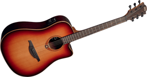 "LAG - Tramontane ""100"" Series T100DCEBRS Acoustic Electric guitar"