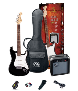 ESSEX -Beginners ST Style Electric Guitar & Amp Pack- Black