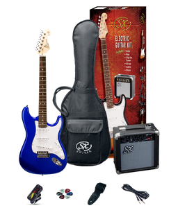 ESSEX -Beginners ST Style Electric Guitar & Amp Pack- Electric Blue