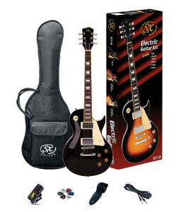 ESSEX -Beginners LP Style Electric Guitar & Amp Pack- Black