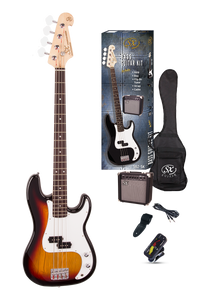 ESSEX -Beginners ST Style Bass Guitar & Amp Pack- 3 Tone Sunburst