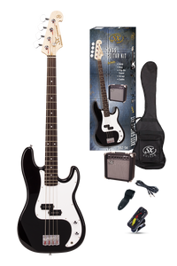 ESSEX -Beginners ST Style Bass Guitar & Amp Pack- Left Handed Black