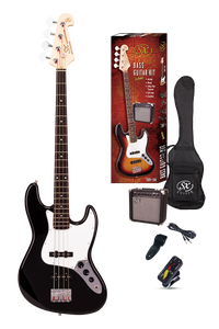 ESSEX -Beginners Jazz Style Bass Guitar & Amp Pack- Black
