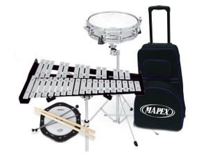 Mapex Precussion pack- Combo 32 Note Bell & Snare Kit W/Prac Pad & Bag w/-wheels