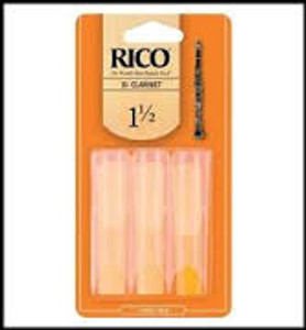 Clarinet Reeds - 1 1/2 - Pack of 3 - Rico