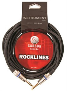 Guitar Cable (braided)  20 foot - Carson