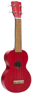 MAHALO Kahiko Series Soprano Ukulele Transparent Red.
