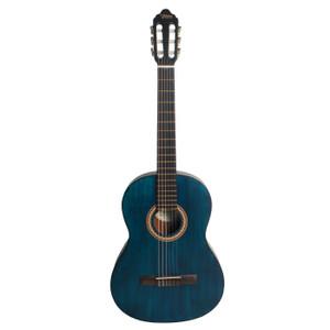 VALENCIA - 4/4 size classical guitar. Transparent Blue.