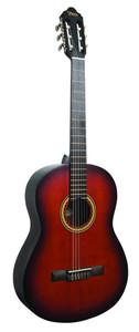 VALENCIA Hybrid Guitar.  4/4 size classical guitar. Thin Neck. Classical Sunburst.