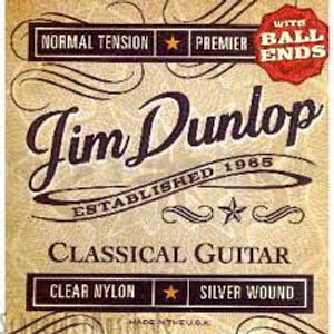 DUNLOP – Classical Guitar Strings – Clear Nylon With Ball End - Box of 12