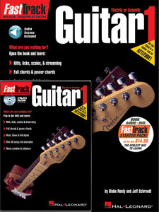 FASTTRACK GUITAR STARTER PACK BK/CD DVD GTR