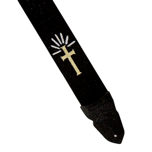 LM - 2 inch black cotton strap Cross