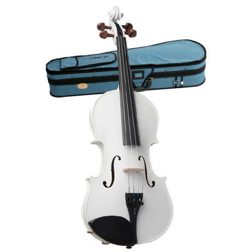 STENTOR   Harlequin Series. 4/4 violin outfit. Metallic White.