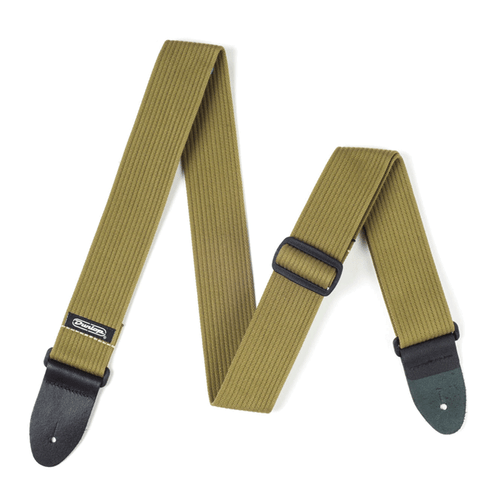 "Dunlop 2"" Ribbed Cotton Strap. (Olive Green)"