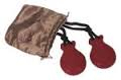 Finger Castanets   Red (Comes with pouch)