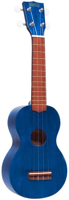 MAHALO Kahiko Series Soprano Ukulele Transparent Blue.