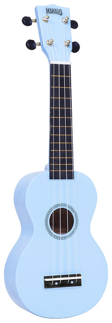 MAHALO Rainbow Series Soprano Ukulele Light Blue.