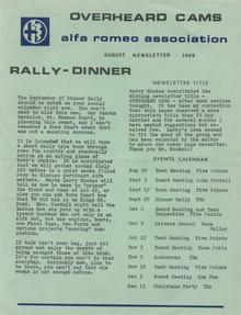 Overheard Cams September 1969
