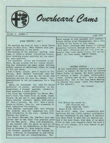 Overheard Cams October 1974