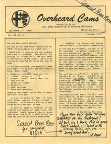 Overheard Cams February 1976