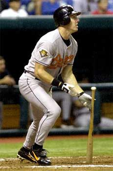 Chris Richard Baltimore Orioles Homerun