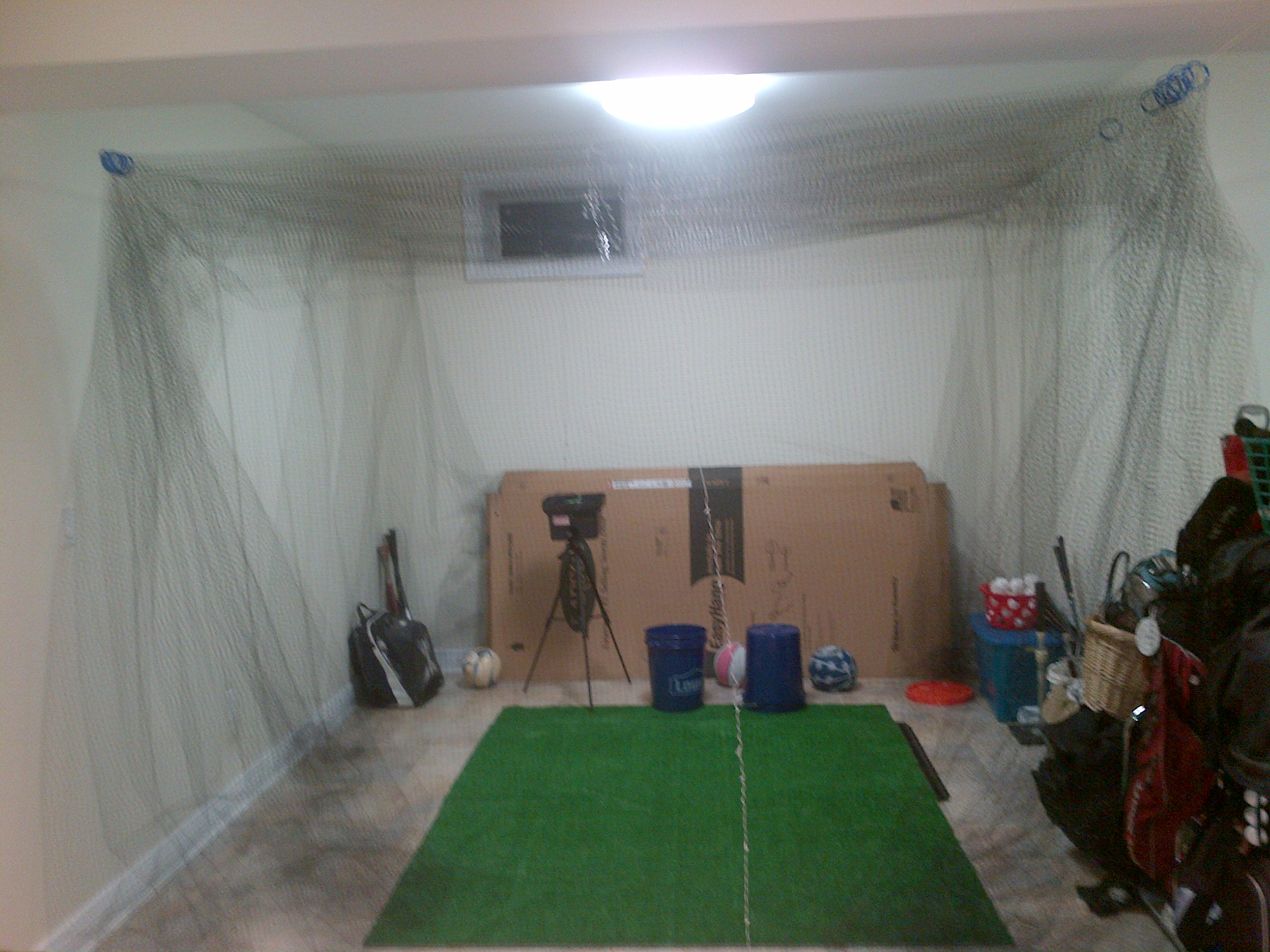 Basement cage set up