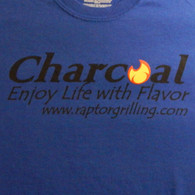 """Charcoal - Enjoy Life with Flavor"" t-shirt print"