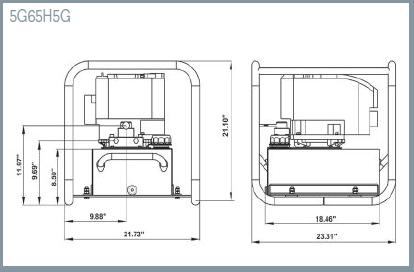 Williams Gas Engine Pump - 5.5 Hp and 5.0 Gal - 5G55H5G 5G55H5G